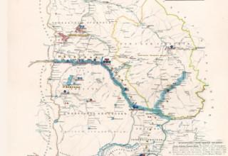 Карта земель Сибирского линейного казачьего войска. 1858