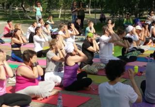 Международный день йоги в Кокшетау