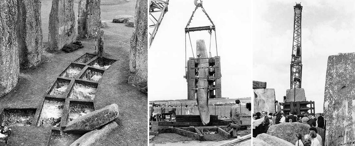 Строительство Стоунхенджа в 1954 году