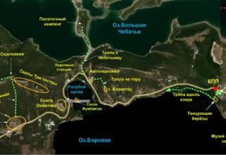 Карта Борового