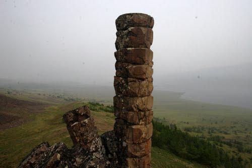 Таймыр, гексагональные колонны